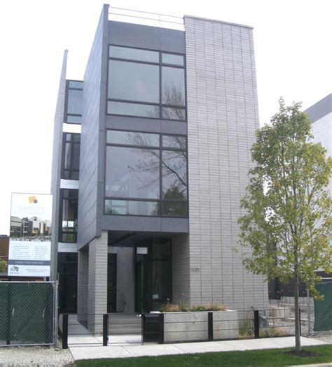four story house new on the market roomy contemporary in chicago s bucktown