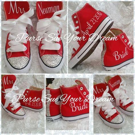 custom bridal shoes personalized custom bridal converse wedding shoes