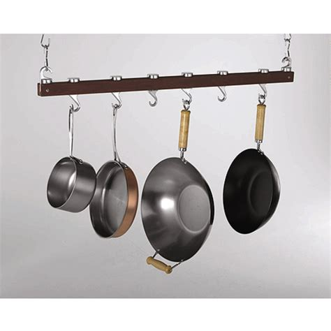 ceiling mounted pot rack dual track ceiling mounted 36 quot kitchen pot rack in