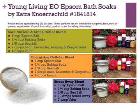 Bath Detox With Essential Oils And Epsom Salt by 439 Best Living Essential Oils Images On