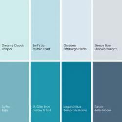 blue paint swatches shades of blue paint colors 2 pinterest