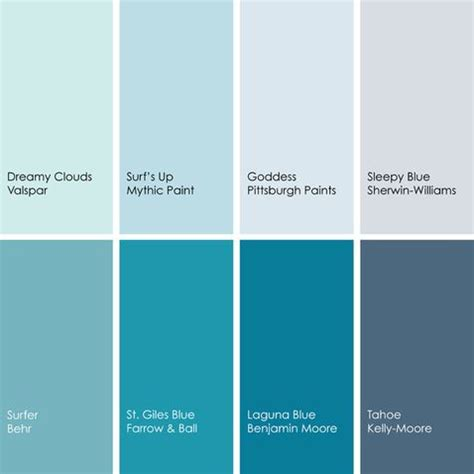 shades of blue paint colors 2