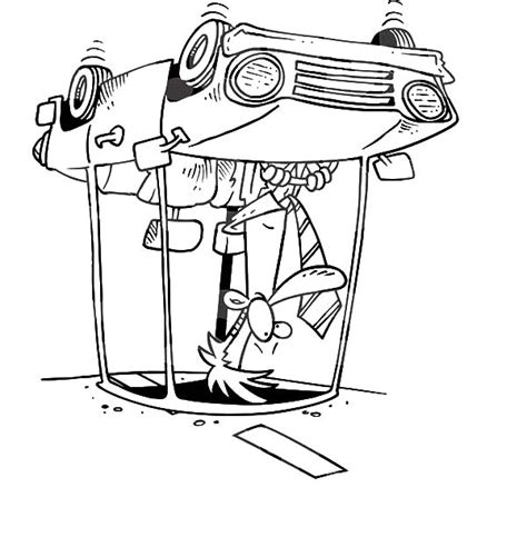 car accident colouring pages