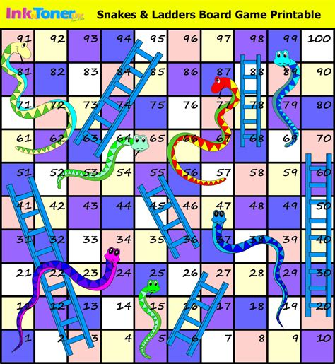 snakes and ladders printable template inkntoneruk the news on printers printer
