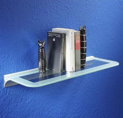 Floating Glass Shelves For Bathroom Large Two Tone Floating Glass Shelf Bathroom Cabinets And Shelves Detroit By Organize It