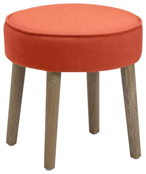 Modern Vanity Stool by Vanity Stool In Orange Modern Vanity Stools And Benches