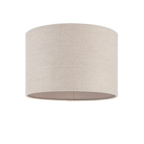 Cylindrical L Shade by Endon Lighting Obi 12 Inch Linen Cylindrical Shade