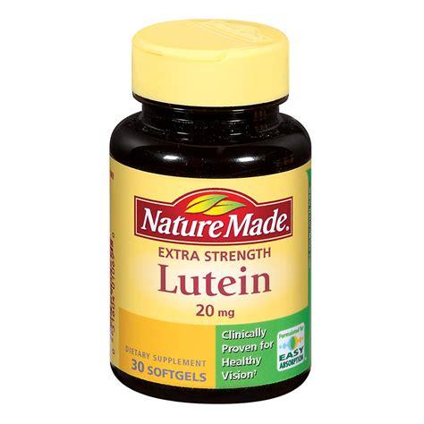 Vitamin Lutena nature made lutein 20 mg dietary supplement liquid softgels walgreens