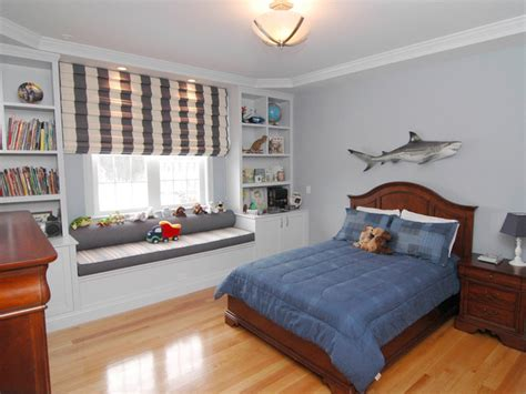 Boys Bedrooms Transitional Boy S Bedroom With Shark Decor Hgtv