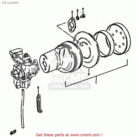 Suzuki Lt50 Tuning Suzuki Lt50 1984 E Air Cleaner Schematic Partsfiche
