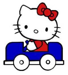 imagenes de hello kitty vestida de tigres hello kitty manejando coche azul imagen 1105 im 225 genes cool