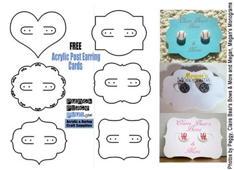 free jewelry card template different shapes acrylics and card designs on