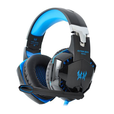 Headset Blue kotion each g2000 pro gaming headset for pc computer blue us ebay