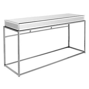 z gallerie mirrored console table mirrored console w a chair dressing area table