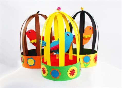 paper bird cage craft bird cage paper toys diy birdie cage paper bird