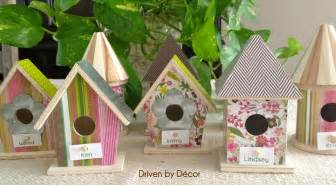 easter table decorations diy birdhouse place cards