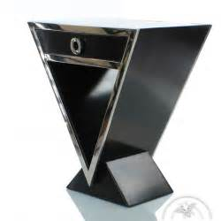 table de chevet design noir delta saulaie