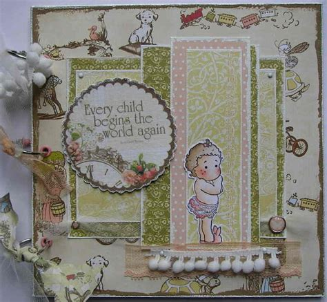 Handmade Photo Albums Uk - ooak handmade baby scrapbook photo memory album
