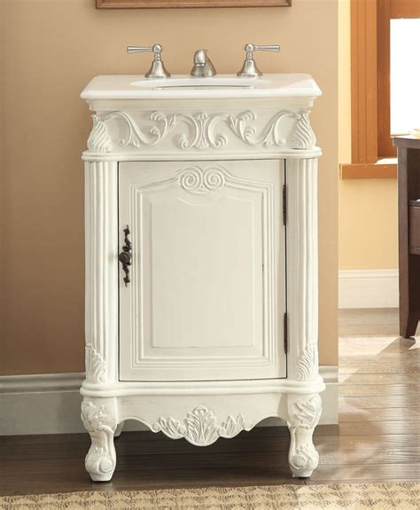 21 Bathroom Vanity Adelina 21 Inch Antique White Finish Bathroom Vanity