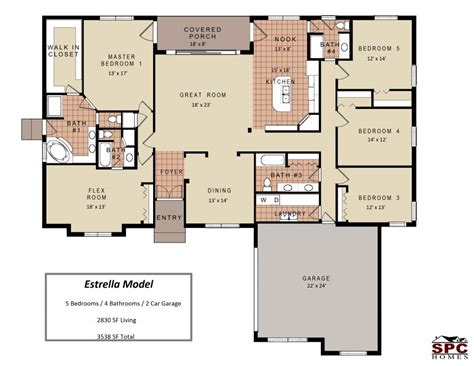 one floor home plans wohndesign exquisit 5 bedroom house plans floor plan one