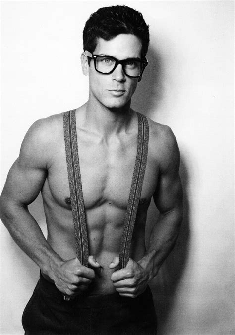 hot guys with nerd glasses hunky shirtless nerd wearing glasses and suspenders