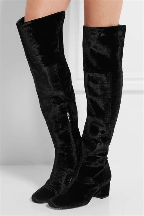 sam edelman the knee boots sam edelman velvet shoes net a porter exclusive shop
