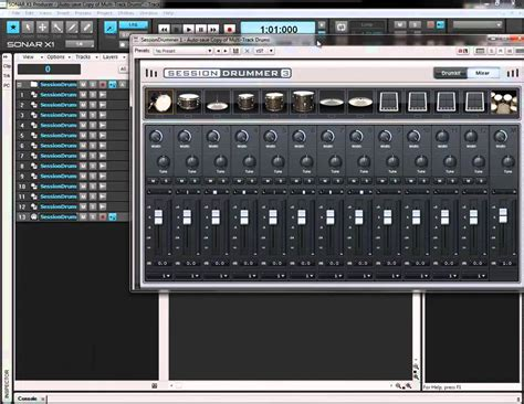 Stiker R X1 New Edition multi track drums in session drummer 3 sonar x1 producer