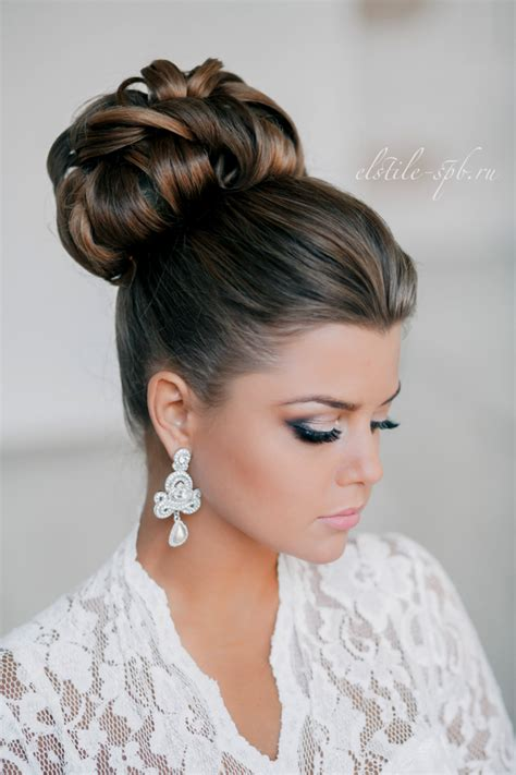 Bridal Bun Hairstyles by Wedding Hairstyles Tulle Chantilly Wedding