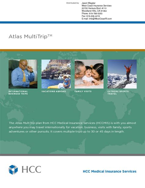 Multi Trip hcc atlas travel insurance multi trip west