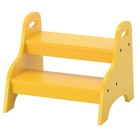 child step stool trogen children s step stool yellow 40x38x33 cm ikea