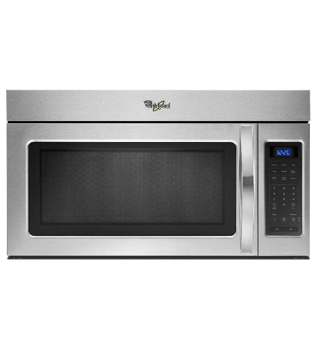microwave and fan combination whirlpool wmh31017as 1 7 cu ft stainless steel over the
