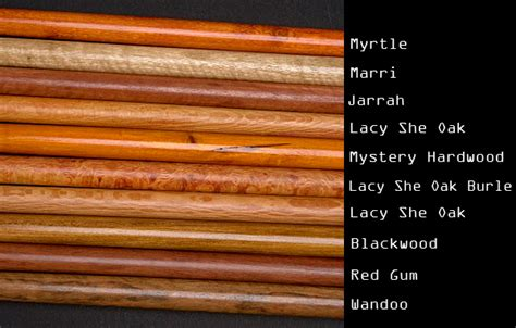 woodworking names drill canes wood types