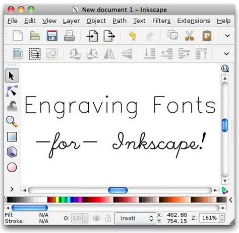 inkscape extension tutorial hershey text inkscape extension for engraving fonts