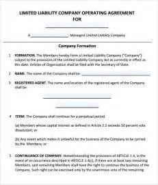 membership agreement template operating agreement 7 free pdf doc