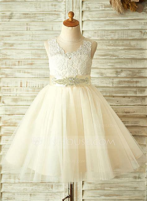 Renda Top By Princess a line princess knee length flower dress tulle lace