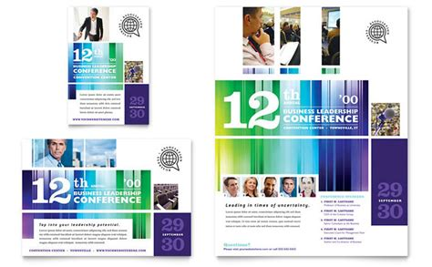 business leadership conference flyer ad template design