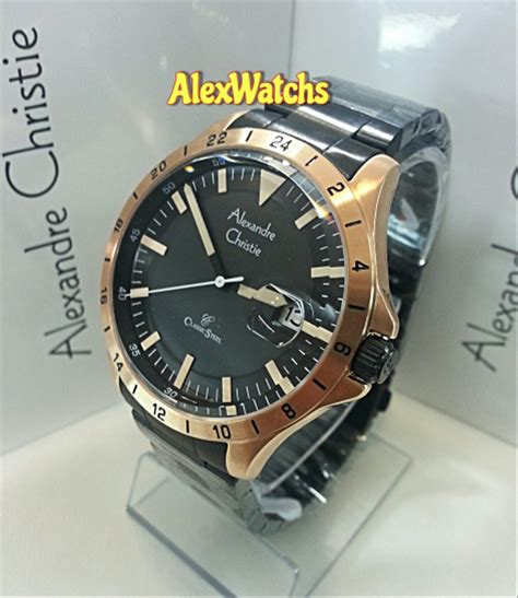 jual jam tangan alexandre christie pria original