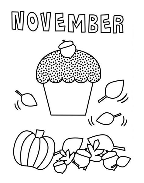 coloring page november november free coloring pages