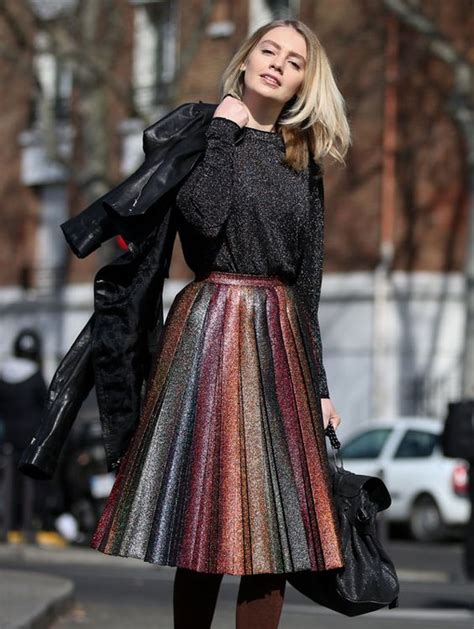 Blouse Glitter Black glitter black blouse rainbow skirt ladystyle