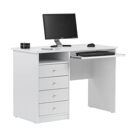 student white desk home office desks officesupermarket co uk