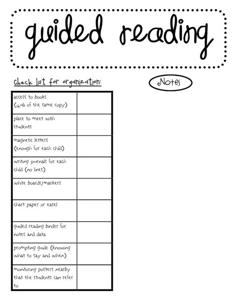 guided reading template the go to guided reading or bust