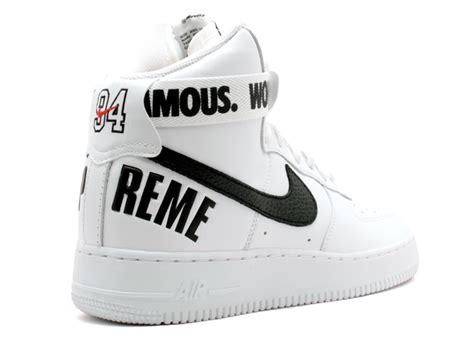 nike air 1 high supreme air 1 high supreme sp white black