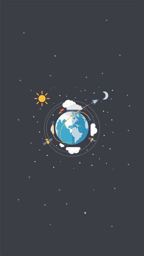 wallpaper for iphone 5 moon earth satellites sun moon illustration iphone 5 wallpaper