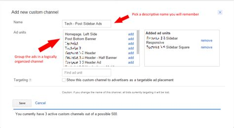 add channels add a channel pick and pay shaw how to use google adsense custom channels to increase