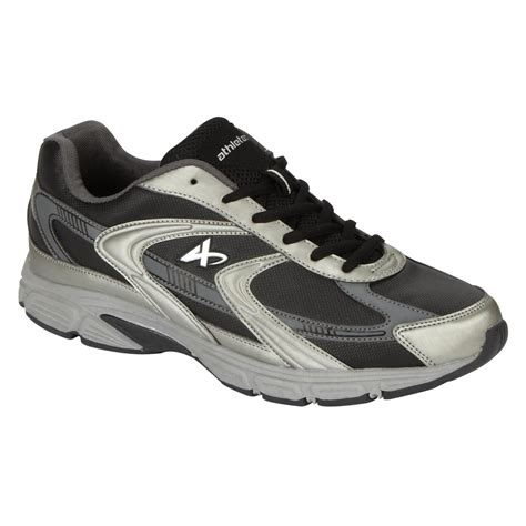 mens wide athletic shoes athletech s espy black grey athletic shoe wide width