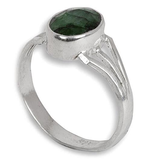 silverwala 925 silver emerald ring buy silverwala 925