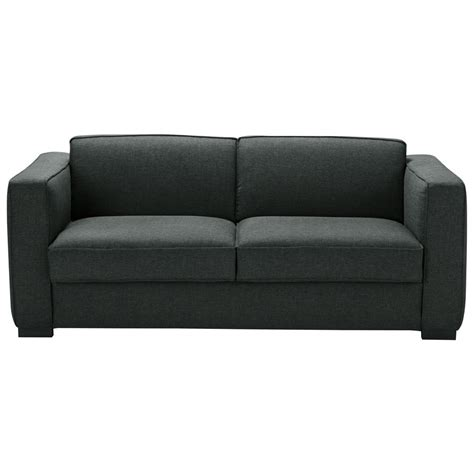 canap 233 convertible 3 places en tissu monet anthracite