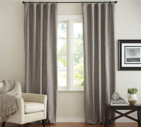 emery drapes emery linen cotton grey drape