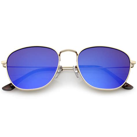 Ori Kacamata Sunglass New Rond Ultra Thin Aluminium Polarized 1 sunglassla metal frame ultra slim temples colored mirror