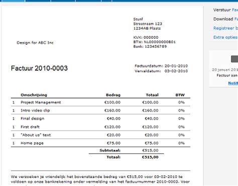Invoice Update Letter Export Of Reports Csv Html Moneybird Project Bar Update New Permission Level Stunf